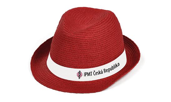Návrh potisku stuhy na klobouk, digitální tisk